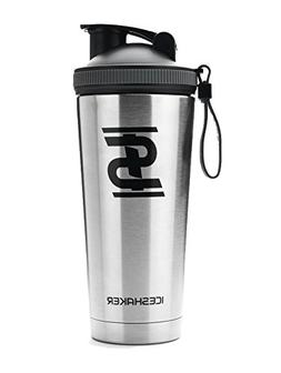 Ice Shaker 26oz Stainless Steel Insulated Water Bottle Prote