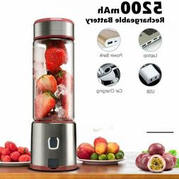 Stainless steel Portable Blender Glass USB Rechargeable Pers