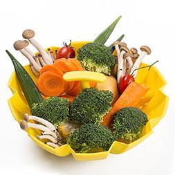Steamer Basket, Silicone Food Steamer Basket for Vegetable,