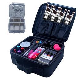 Samtour Professional Makeup Train Case Cosmetic Bag Organize