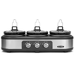 Bella Triple Slow Cooker Buffet and serve
