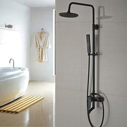 Two wall mount style bath shower faucet shower rooms control