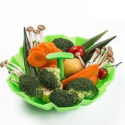 Vegetable Steamer Basket for Instant Pot, Silicone Food Stea