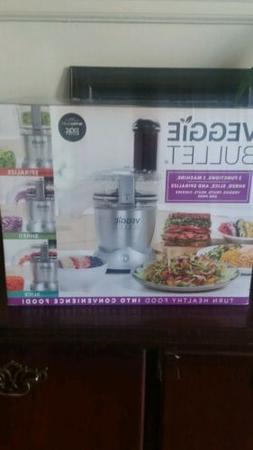 Veggie bullet electric spiralizer food processor with 4 atta