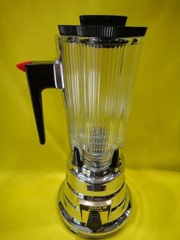 Vintage 1950s Chrome Beehive Waring Blendor with Glass Jar M