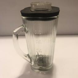 Vintage Waring Blender Replacement Clover Leaf Pyrex Glass J
