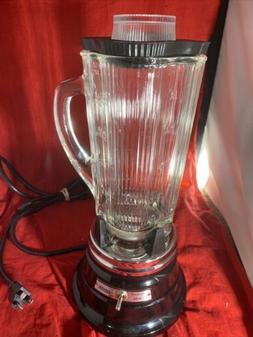 Warning Blender with Glass Jar 34BL87 metal Black base 5 cup