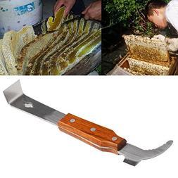 Wooden Handle Stainless Steel Bee Hive Scraper Beekeeping To
